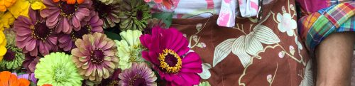 flower market apron at LynnVale Studios