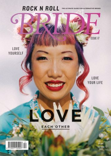 """Indie Garden Wedding"" flowers by Lynnvale Studios, Rock N Roll Bride UK, Issue 17"