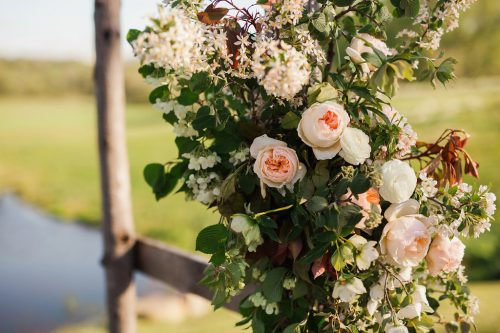 Spring Awakening Wedding, flowers by LynnVale Studios, photo by Carly Romeo & Co.